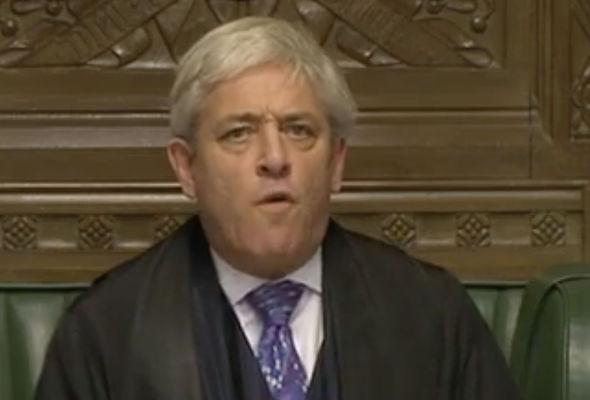 Speaker John Bercow delacred