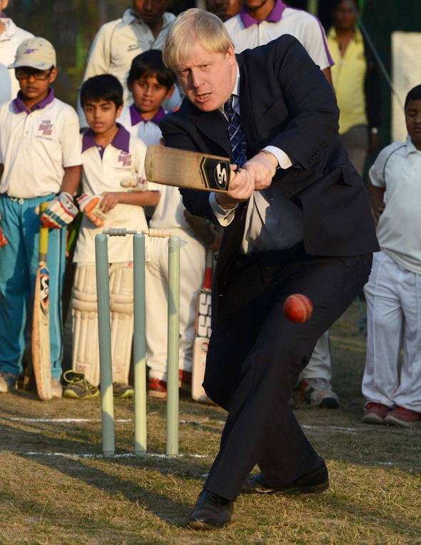 Boris Johnson batting