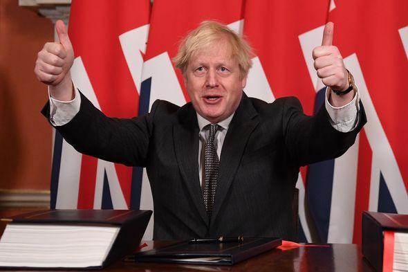 Boris Johnson secured trade deal in December