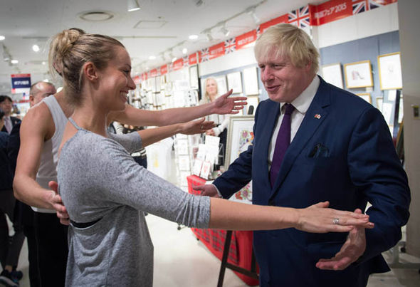 London's Mayor dances with dancer Charlotte Gooch