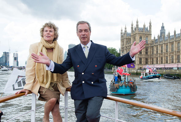 Ms Miller attempted mirror a picture taken last year featuring former Ukip leader Nigel Farage