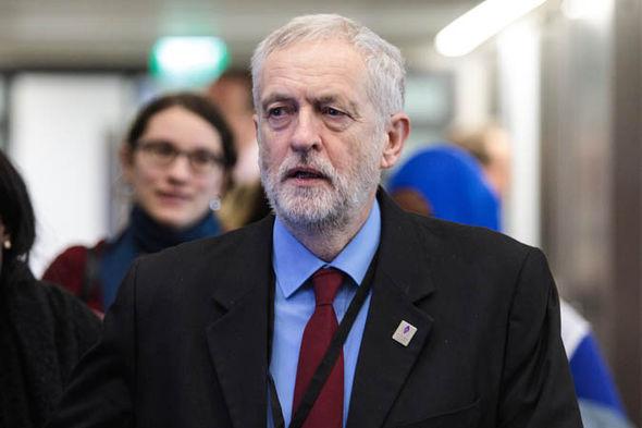Jeremy Corbyn looking nervous