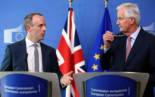 Brexit not in the case: Dominic Raab and Michel Barnier &quot;title =&quot; Brexit not in the case: Dominic Raab and Michel Barnier &quot;data-w =&quot; 590 &quot;data-h =&quot; 369 &quot;/&gt; </p data-recalc-dims=