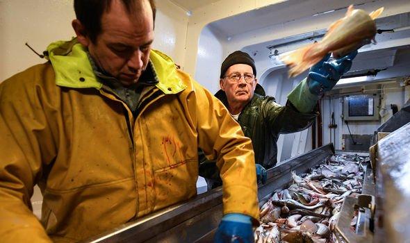 Fishermen in the North Sea