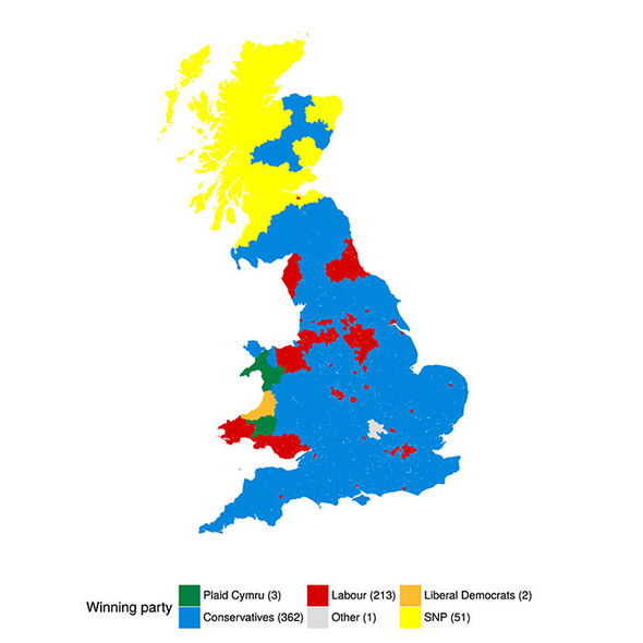 General election predicted seats