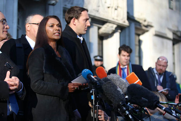 Gina Miller speaking to the press