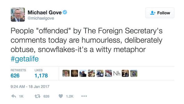 Michael Gove Twitter