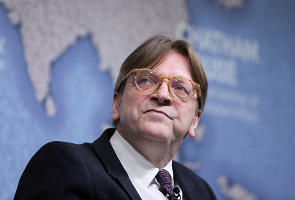 EU Parliament chief Brexit negotiator Guy Verhofstadt