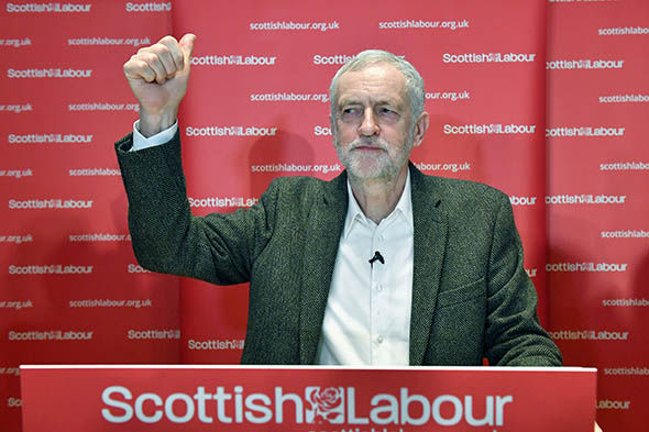 Labour leader Jeremy Corbyn in Scotland