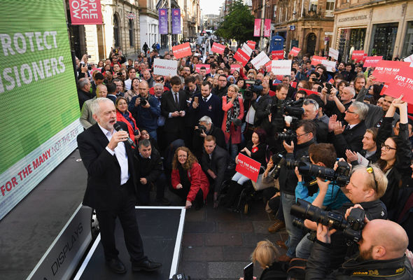 Labour leader Jeremy Corbyn will speak at a series of rallies today