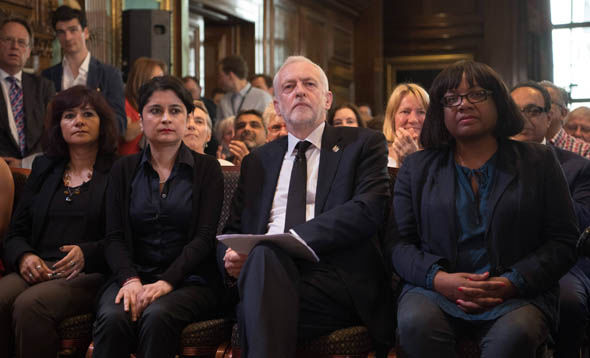 Labour's Jeremy Corbyn and Diane Abbott