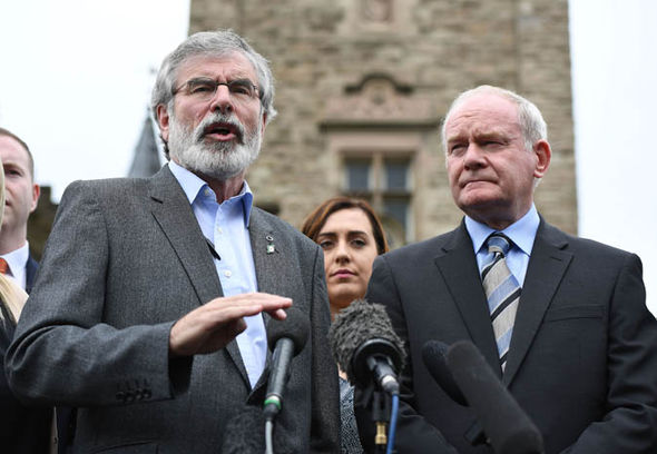 Martin McGuinness and Gerry Adams
