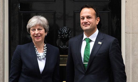 Leo Varadkar and Theresa May  Brexit LIVE: Parliament VOTES DOWN Dominic Grieve's amendment, Lords REJECTED   Politics   News May Varadkar 1388537
