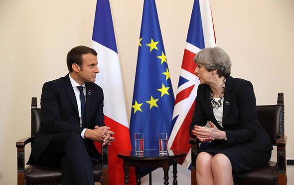 Theresa may and Macron
