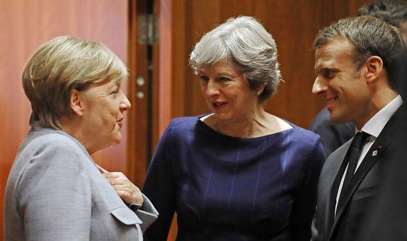 Angela Merkel, Theresa May, Emmanuel Macron