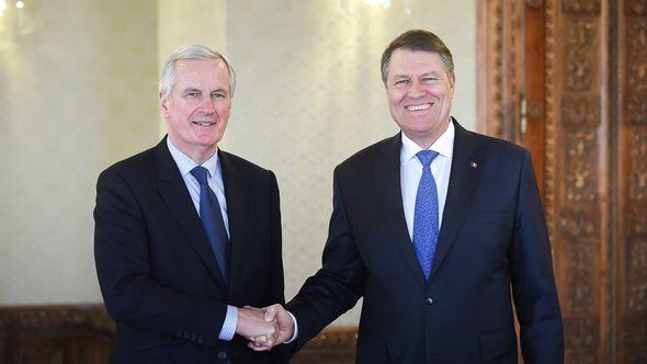 Michel Barnier and Klaus Johannis