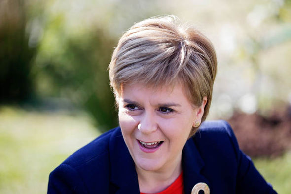 Nicola Sturgeon laughing