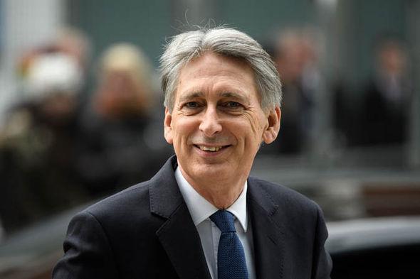 Philip Hammond smiling