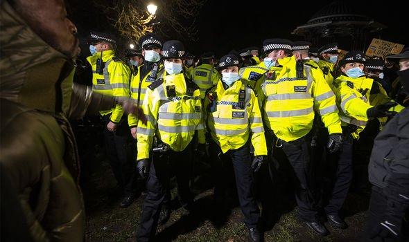 Police broke up mourners accused of breaking lockdown rules