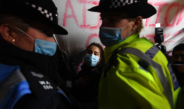 Police were criticised for their actions at the Sarah Everard vigil