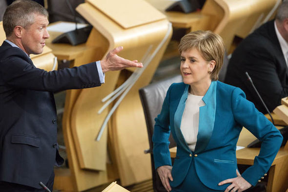 Willie Rennie with Nicola Sturgeon