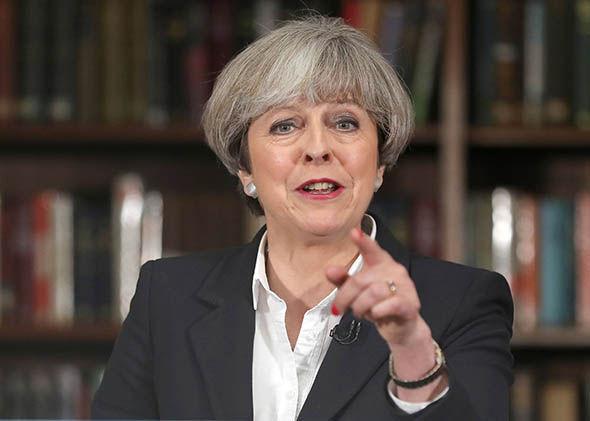 Theresa May campaigning