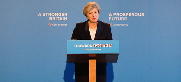 Theresa May Conservative manifesto