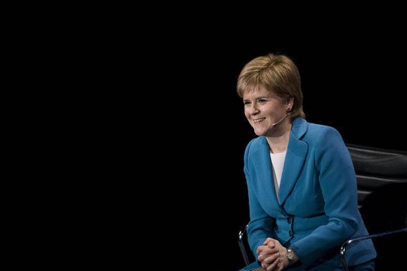 Nicola Sturgeon laughing
