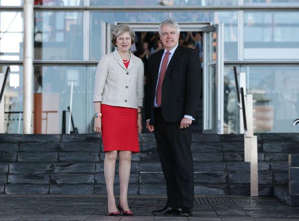 Theresa May and Carwyn Jones