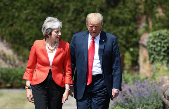 Tory party chaos: May and Trump   Tory party week of CHAOS: Boris senses Theresa May is 'wounded animal' as Trump takes aim   Politics   News Tory party chaos 1419465