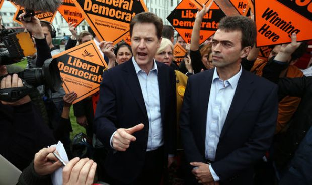 Tom Brake and Nick Clegg