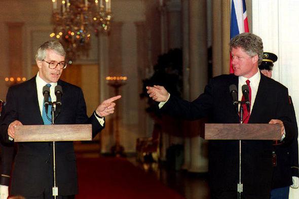 John Major and Bill Clinton