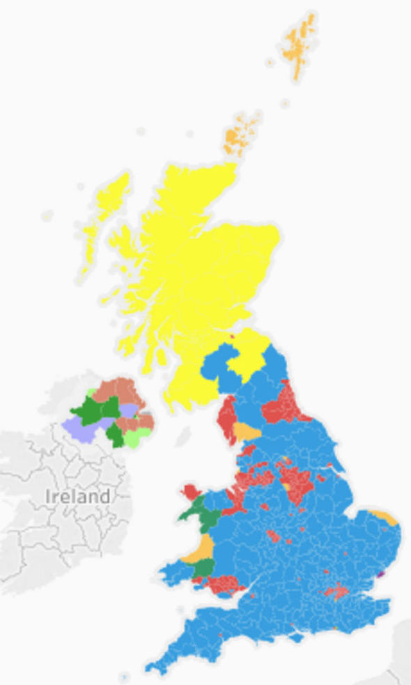 2015 election results map