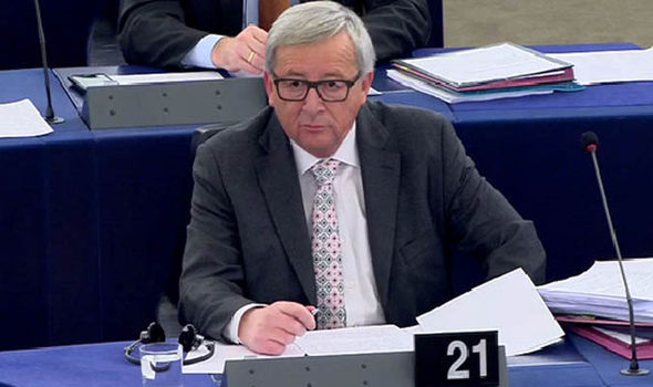 Jean-Claude Juncker at the EU Parliament