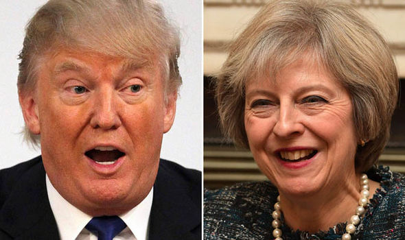 Theresa May and Donald Trump