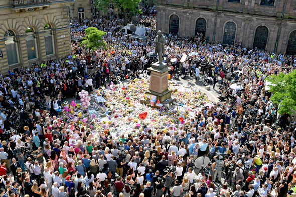 Vigil for the Manchester bombing victims