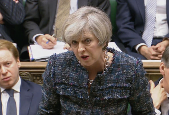 Theresa May traded blows with Jeremy Corbyn over the NHS