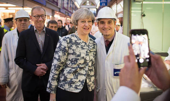 Theresa and Philip May campaigning for election