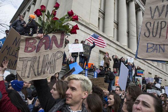 trump ban protest