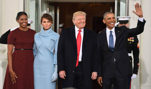 Donald and Ivanka Trump with Barack and Michelle Obama