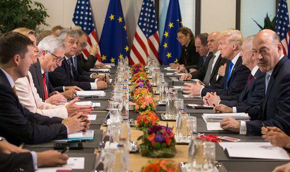 Donald Trump and Jean-Claude Juncker