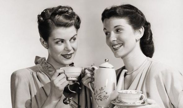 Image result for posh drinking tea