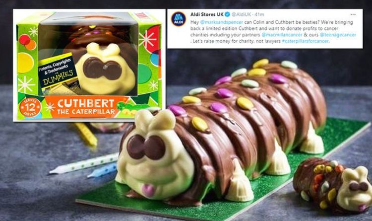 Aldi's Cuthbert back amid M&S Colin the Caterpillar copyright claim 'We're taking a stand'