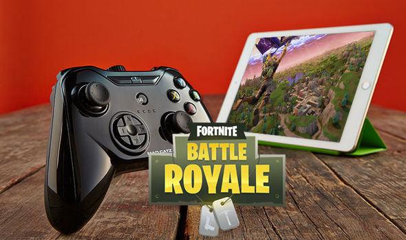 Fortnite Mobile Battle Royale on iOS tablet