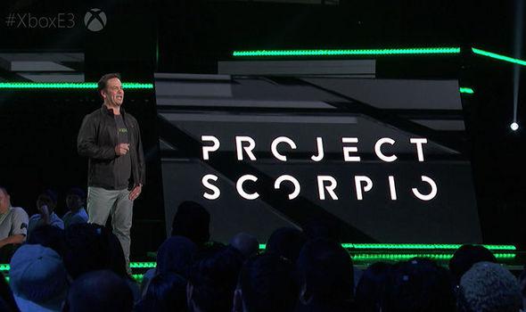 Xbox Scorpio logo on stage at E3