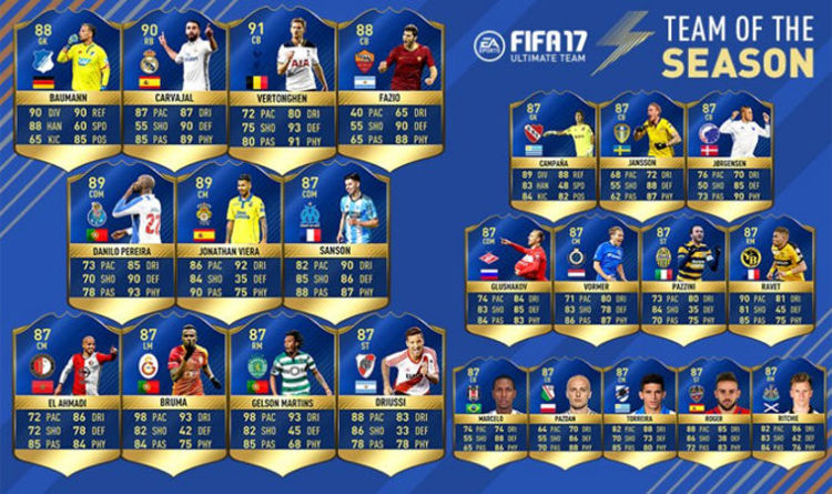 FIFA 17 TOTS FIRST PS4 Xbox Web App Team Of The Season