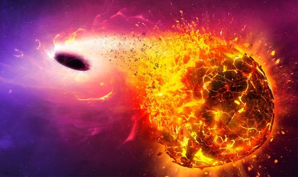 Black hole CATACLYSM: Earth falling into a black hole will ...
