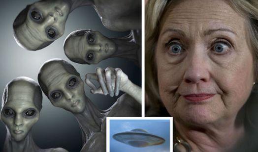 Resultado de imagen de hillary clinton alien