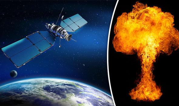satellite explode