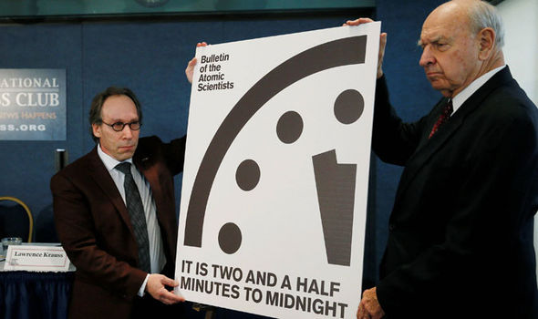 Doomsday Clock is now two and a half minutes to midnight